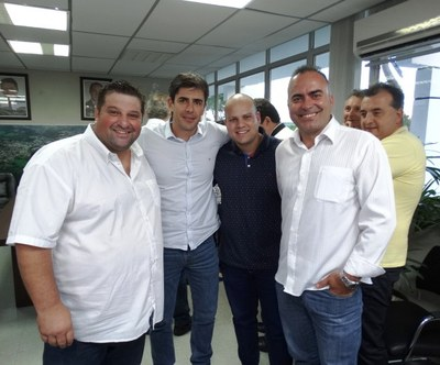 Deputado André Bueno esteve junto com Rossoni em Matelândia.