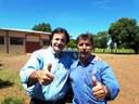 Deputado Frangão(PMDB) esteve em Matelândia.