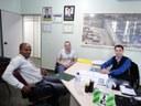 Equipe do Banco CRESOL visita presidente da Câmara.