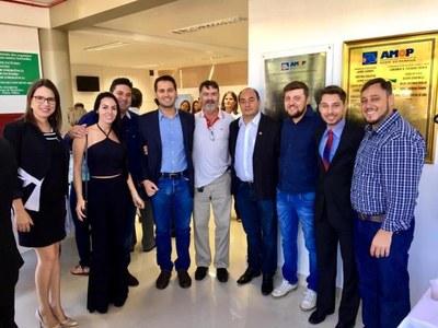 Gabriel Cadini acompanhou posse do Prefeito Texerinha como presidente da AMOP.