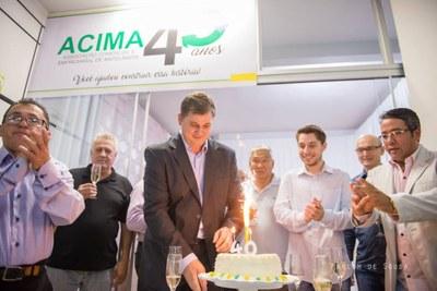 Presidente da Câmara comparece ao aniversário de 40 anos da ACIMA