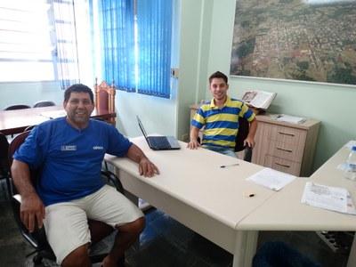 Presidente do Legislativo recebeu o amigo Clode em seu gabinete.