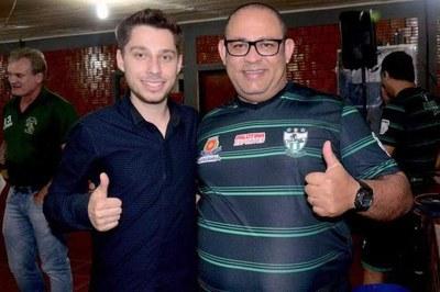Presidente Gabriel participou do risoto do Aymoré Futsal.