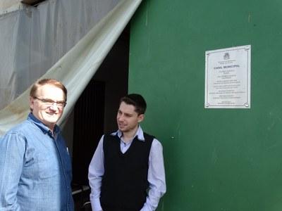 Presidentes das Câmaras Municipais de Medianeira e Matelândia.