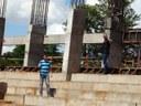 Vereadores Aldair e Gabriel visitaram obras do Póli Esportivo.