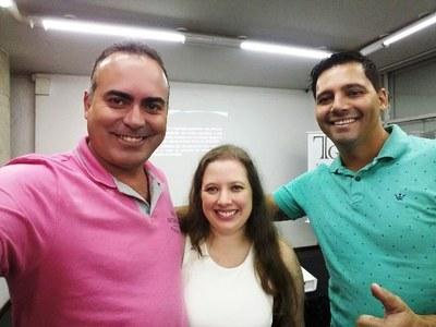 Vereadores Aldair e Jebson e a Palestrante Viviane Duarte em Curitiba.