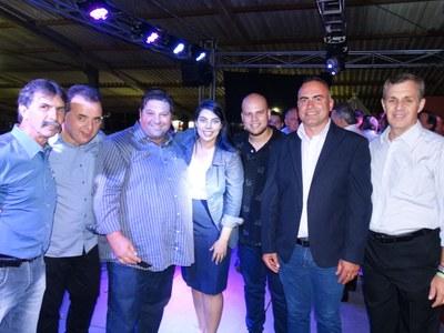Vereadores com a deputada Claudia Pereira na ExpoMatelandia.