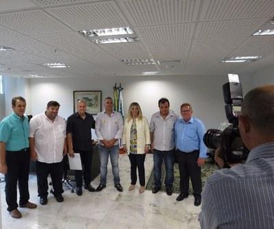 Vereadores de Matelândia, visitaram governadora em exercício
