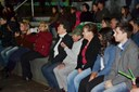Vereadores e público em geral na 1ª Mostra de Teatro de Matelândia.