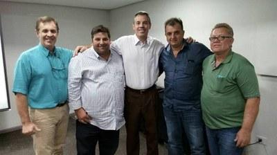 Vereadores Laco, Nei, Adilto e Bedéco no curso PROGRAMA DE FORMAÇÃO DE INÍCIO DE MANDATO.