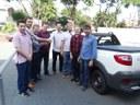 Deputado Élio Rush atende pedido do vereador Jebson Bózio e entrega veículo 0 km para Matelândia.