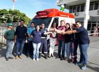 Deputado Sperafico consegue nova ambulância para o SAMU.