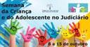 """Judiciário de Matelândia promove a """"Semana da Criança e do Adolescente""""."""
