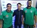 Presidente da Câmara de Vereadores prestigia evento de apresentação do time do Aymoré Futsal.