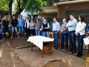 Presidente da Câmara e vereadores acompanham assinatura da ordem de serviço para restauração de trecho da Av. J K de Oliveira