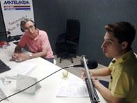 Rádio Matelândia entrevista o vereador e presidente da Câmara Municipal, Gabriel Cadini.
