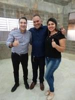 Vereador Aldair acompanhou vinda de deputado Giacobo a Matelândia.