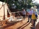 Vereadora Kika visita obras de construção da Piscina para a Terceira Idade.