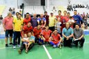 Vereadores prestigiaram as finais do Campeonato Municipal de Futsal.